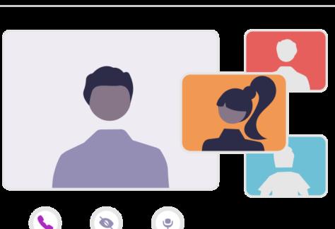 Illustration depicting video conference